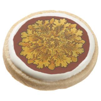 Florentine Oak Leaf Cluster Shortbread Cookies