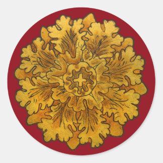 Florentine Oak Leaf Cluster Stickers