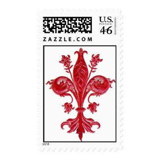 FLORENTINE RED LILY / FLEUR DE LIS STAMP