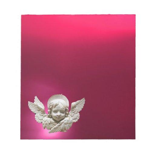 FLORENTINE RENAISSANCE ANGEL,Pink,Fuchsia Memo Pads