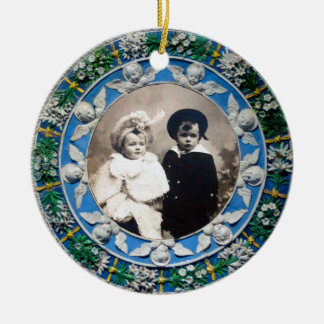 FLORENTINE  RENAISSANCE ANGELS Photo Template Ceramic Ornament