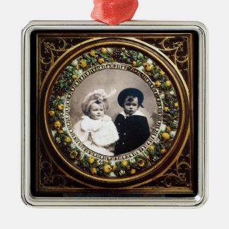 FLORENTINE  RENAISSANCE FRUITS Photo Template Metal Ornament