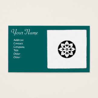 FLORENTINE RENAISSANCE HARMONY,blue green Business Card