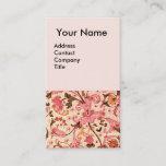 FLORENTINE RENAISSANCE PINK FLORAL SWIRLS,FLOWERS BUSINESS CARD