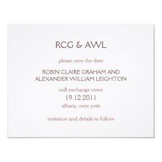 Florentine :: Rose Taupe :: Save the Date 4.25x5.5 Paper Invitation Card