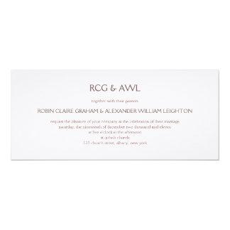 "Florentine :: Rose Taupe :: Wedding Invitation 4"" X 9.25"" Invitation Card"