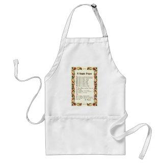 Florentine Simple Prayer=St. Francis=Pope Francis Adult Apron