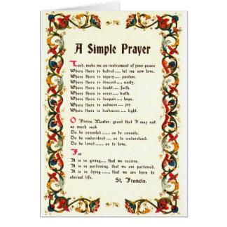 Florentine Simple Prayer=St. Francis=Pope Francis Card