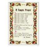 Florentine Simple Prayer=St. Francis=Pope Francis Greeting Card