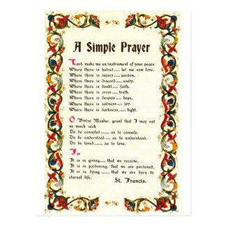 Florentine Simple Prayer=St. Francis=Pope Francis Post Card