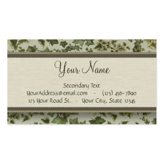 Florentine Watercolor Ivy with Monogram Business Card