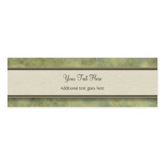 Florentine Watercolor Ivy with Monogram Mini Business Card