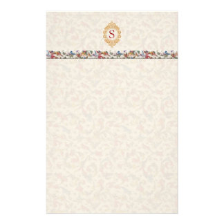 Florentino italiano del monograma papelería personalizada