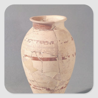 Florero, 4to-3ro siglo A.C. Pegatina Cuadrada