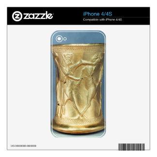 Florero adornado con las criaturas mitológicas, Pe iPhone 4 Calcomanías