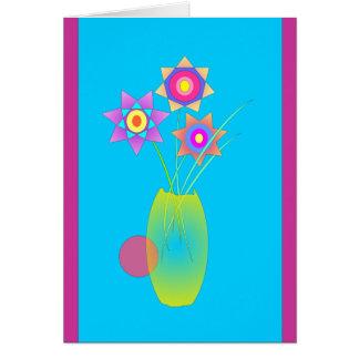 Florero amarillo tarjeta de felicitación