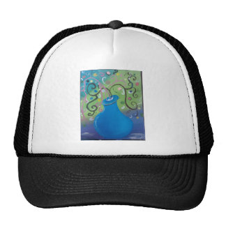 florero azul caprichoso gorras de camionero