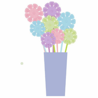 Florero bonito de la broche de las flores esculturas fotograficas