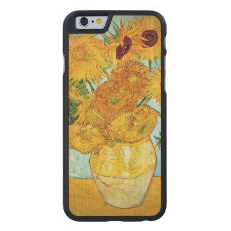 Florero con 12 el caso de madera delgado del funda de iPhone 6 carved® de arce