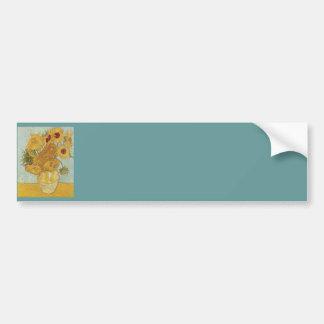 Florero con 12 girasoles de Vincent van Gogh Pegatina Para Auto