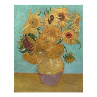 Florero con 12 girasoles de Vincent van Gogh Foto