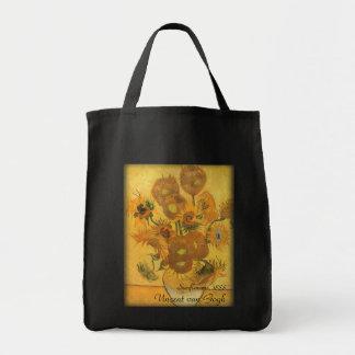 Florero con 15 girasoles de Vincent van Gogh Bolsa Tela Para La Compra