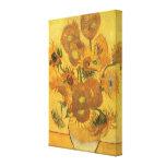 Florero con 15 girasoles de Vincent van Gogh Impresiones En Lona