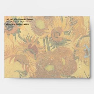 Florero con 15 girasoles de Vincent van Gogh Sobre
