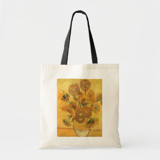 Florero con 15 girasoles por la flor del vintage bolsa tela barata