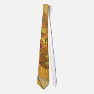 Florero con 15 girasoles por la flor del vintage corbata