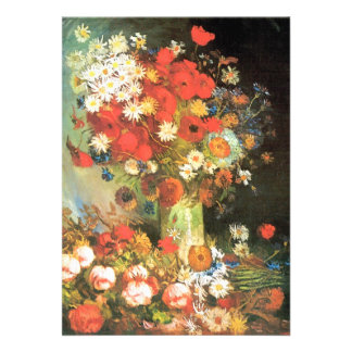 Florero con cornflowers y amapolas de Van Gogh Comunicado
