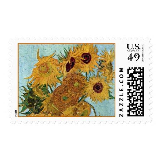 Florero con doce girasoles de Van Gogh