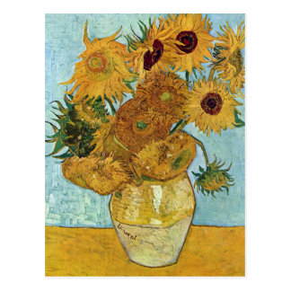 Florero con doce girasoles de Van Gogh Tarjeta Postal