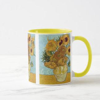 Florero con doce girasoles de Vincent van Gogh