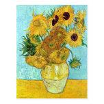 Florero con doce girasoles de Vincent van Gogh Tarjetas Postales