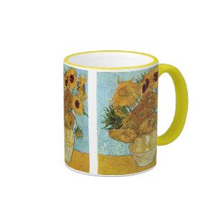 Florero con doce girasoles de Vincent van Gogh Taza De Dos Colores