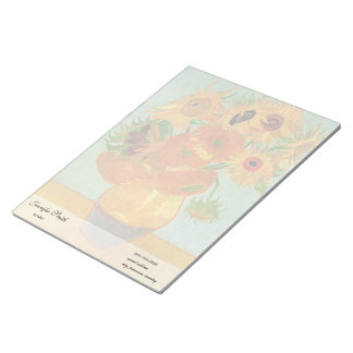 Florero con doce girasoles, Vincent van Gogh. Bloc De Notas