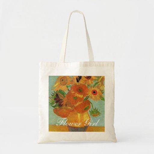 Florero con doce Sunflowers Vincent van Goah Bolsa Lienzo