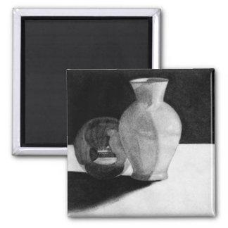 Florero con la esfera imán cuadrado