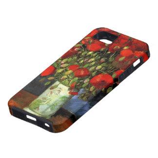 Florero con las amapolas rojas, arte de Van Gogh iPhone 5 Case-Mate Protector