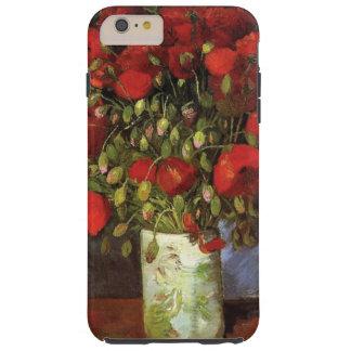 Florero con las amapolas rojas de Vincent van Gogh Funda De iPhone 6 Plus Tough