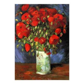 Florero con las amapolas rojas de Vincent van Gogh Comunicado Personal