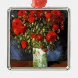 Florero con las amapolas rojas Vincent van Gogh Ornamento Para Reyes Magos