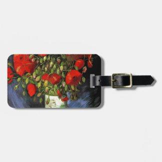 Florero con las amapolas rojas Vincent van Gogh Etiquetas Bolsa