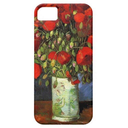 Florero con las amapolas rojas Vincent van Gogh iPhone 5 Cobertura