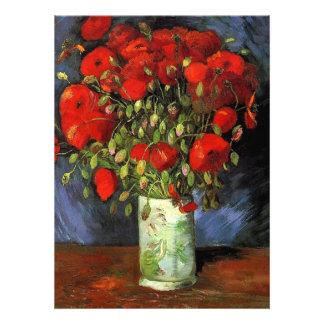 Florero con las amapolas rojas Vincent van Gogh. Invitación