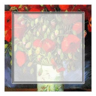 Florero con las amapolas rojas Vincent van Gogh. Comunicado Personalizado