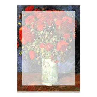 Florero con las amapolas rojas Vincent van Gogh. Comunicado