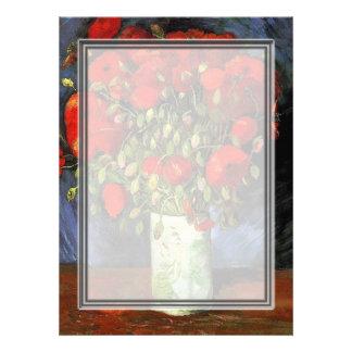 Florero con las amapolas rojas Vincent van Gogh. Comunicados