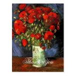 Florero con las amapolas rojas Vincent van Gogh. Postales